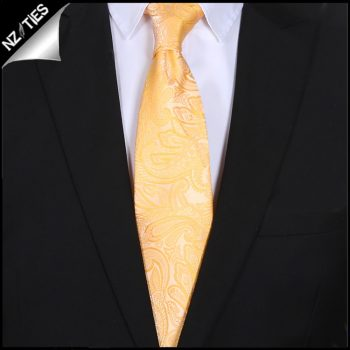Yellow Paisley Mens Tie