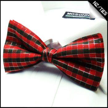 Mens Tartan Check Bow Tie