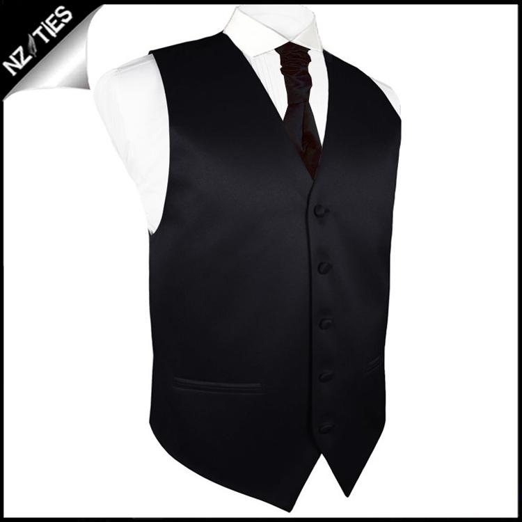"Boy's Black Waistcoat Vest 28"" / 72cm 3XS 4"