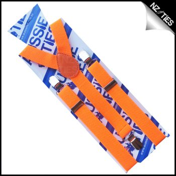 Fluoro Orange Braces Suspenders
