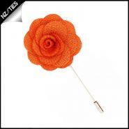 Orange Floral Lapel Pin