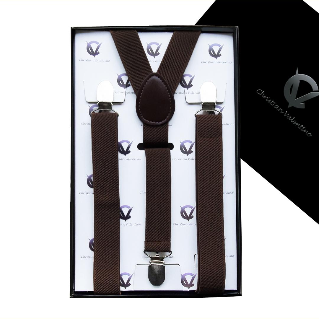 Dark Brown Y2.5cm Men's Braces Suspenders
