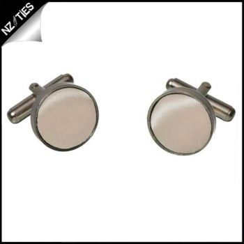 Mens Beige Tan Cufflinks