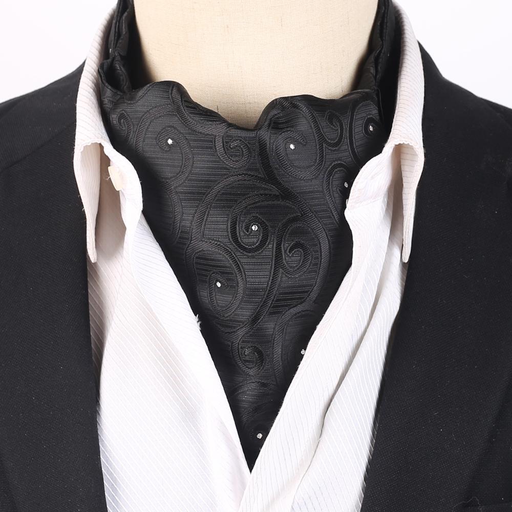 Black Swirls with Sparkly Dots Ascot Cravat