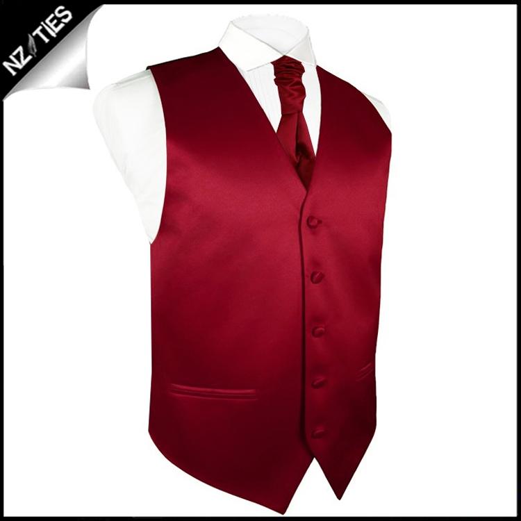 """Mens Scarlet Red Waistcoat Vest 60"""" / 152cm XXXXL 4"""