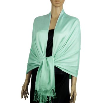 Mint Green Ladies High Quality Pashmina Scarf