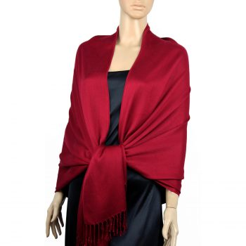 Scarlet Red Ladies High Quality Pashmina Scarf