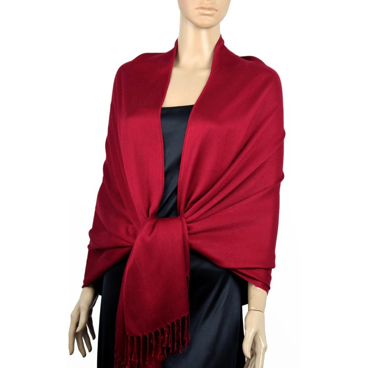 Scarlet Red Ladies High Quality Pashmina Scarf