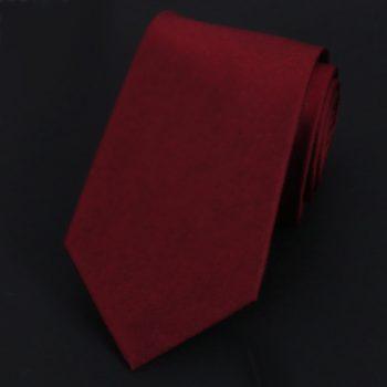 Burgundy Red Silk Tie