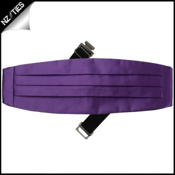 Mens Violet Purple Cummerbund