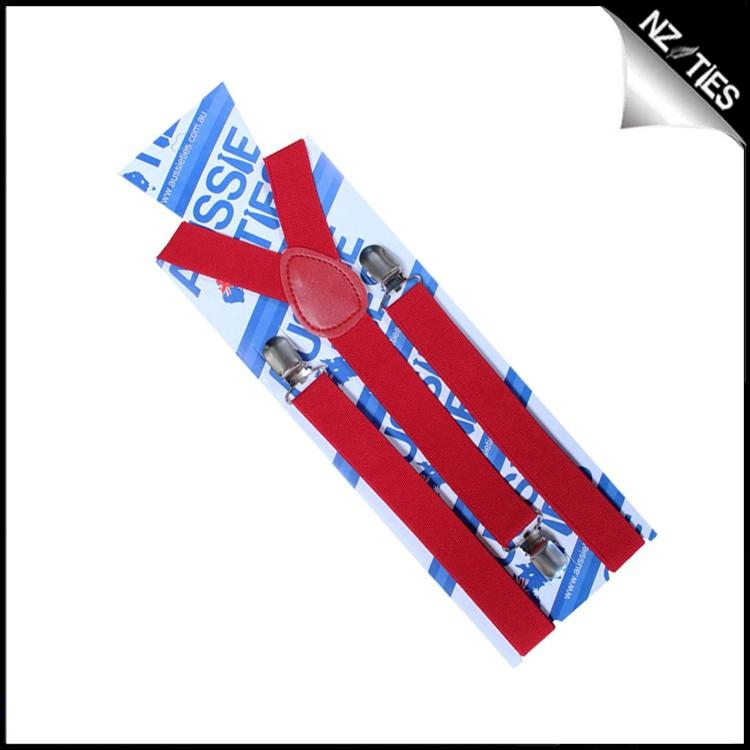 Scarlet Red Boys Braces Suspenders