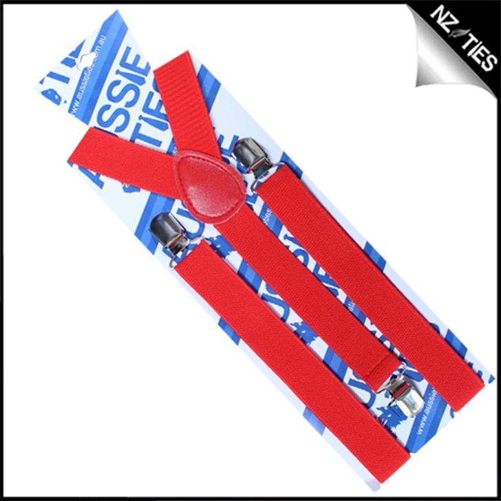 Cherry Red Braces Suspenders