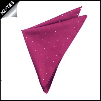 Burgundy Pin Dot Pocket Square Handkerchief