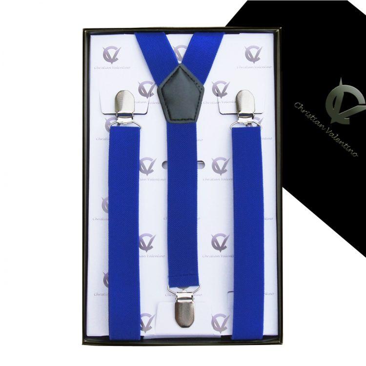 Royal Blue Y2.5cm Men's Braces Suspenders
