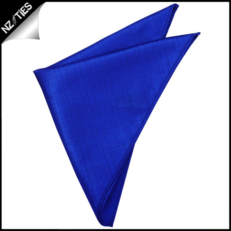 Royal Blue with Micro Check Texture Pocket Square