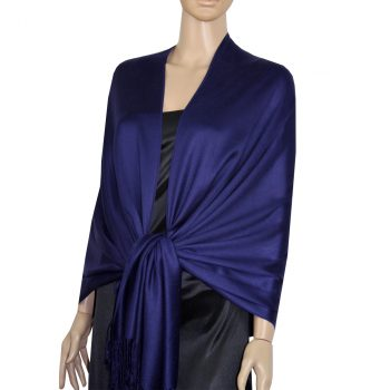 Dark Indigo Blue Ladies High Quality Pashmina Scarf