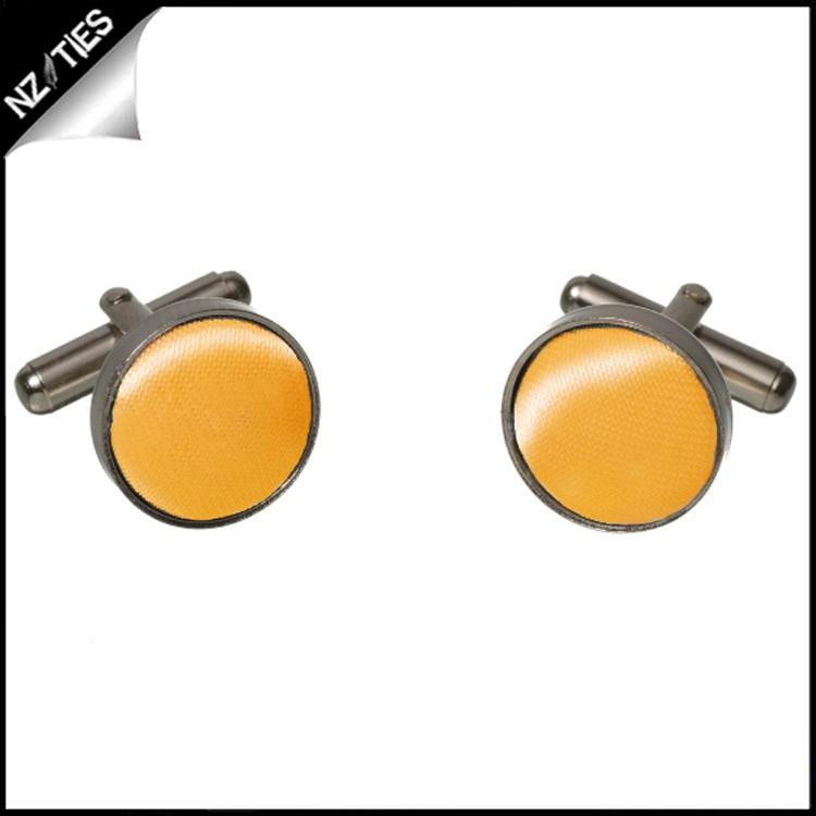 Mens Marigold Bumblebee Yellow Cufflinks