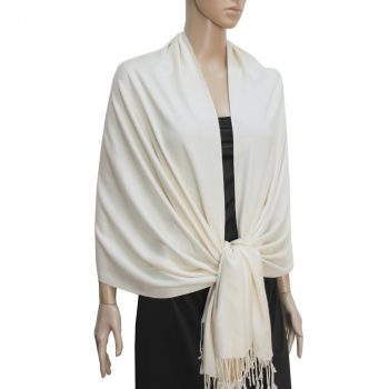 Ivory Ladies High Quality Pashmina Scarf