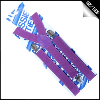 Violet Purple Braces Suspenders