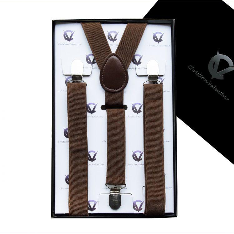 Boy's Mid Brown Y2.5cm Braces Suspenders