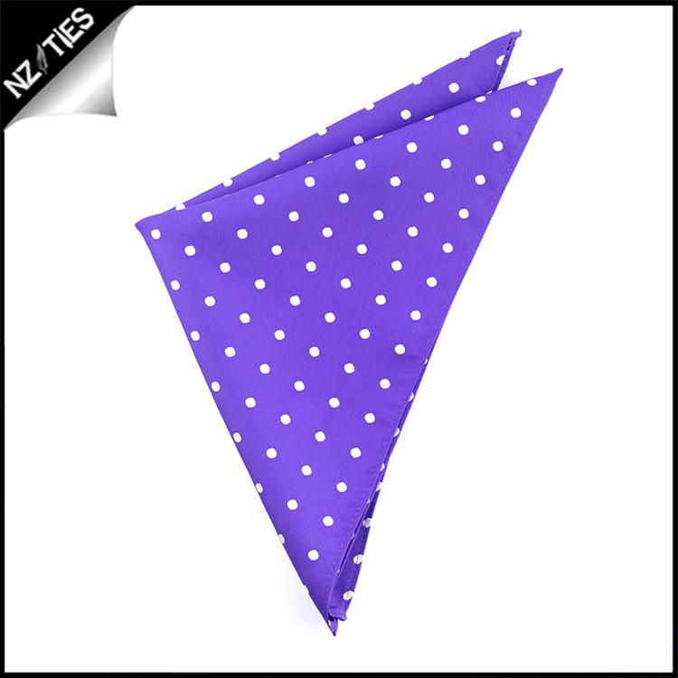 Cadbury Amethyst Polka Dot Pocket Square Handkerchief
