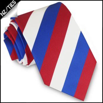 Red, White & Blue Stripes Mens Sports Necktie