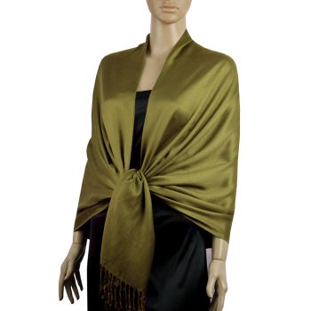 Olive Green Ladies High Quality Pashmina Scarf