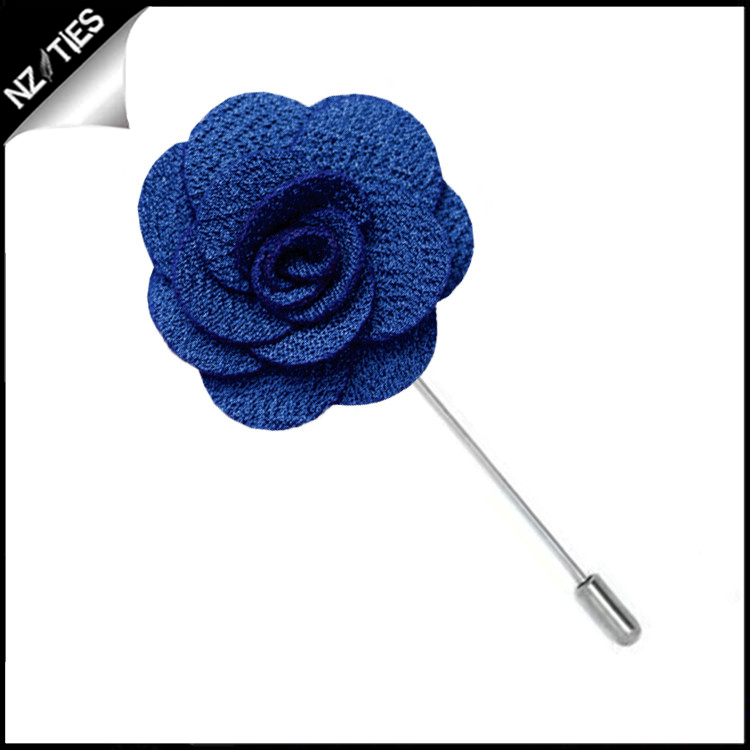 Royal Blue Floral Lapel Pin