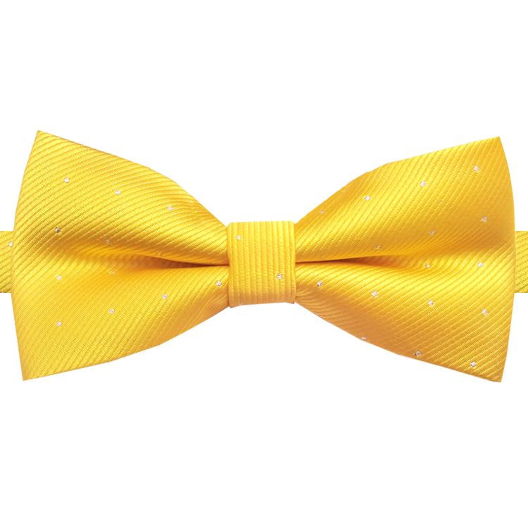 Yellow with Small Dots Bow Tie