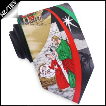 Nativity Scene Christmas Tie