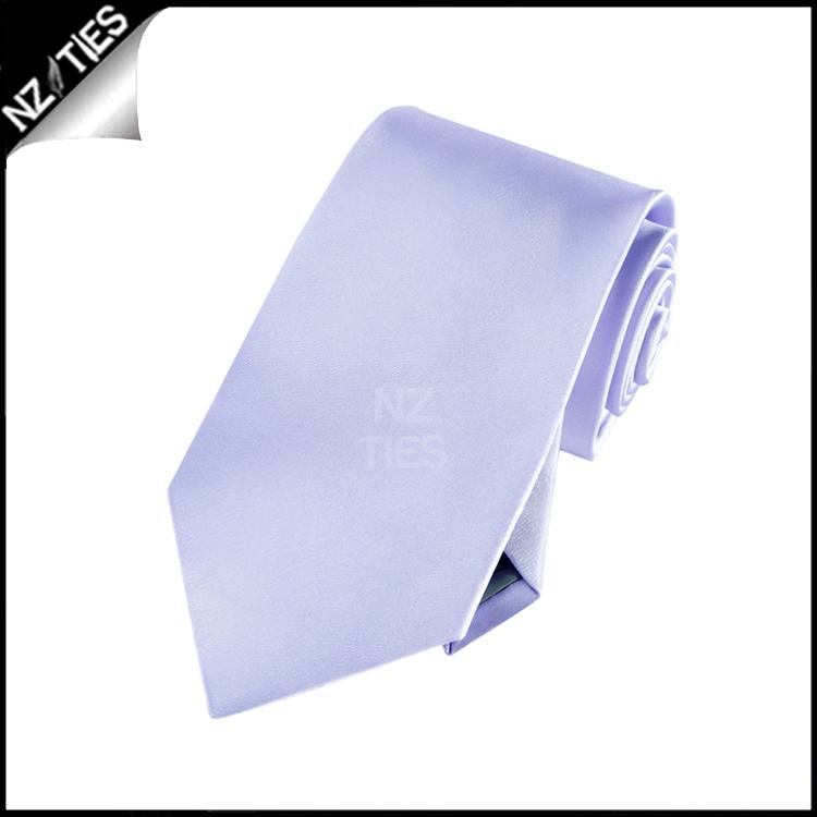 Boys Lavender Lilac Purple Plain Necktie