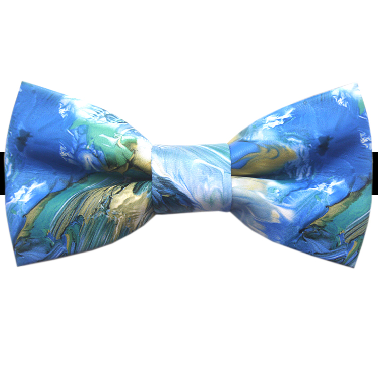 Beach Colours Bicast Leather Bow Tie