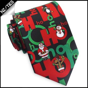 Black Christmas Buddies HoHoHo Tie