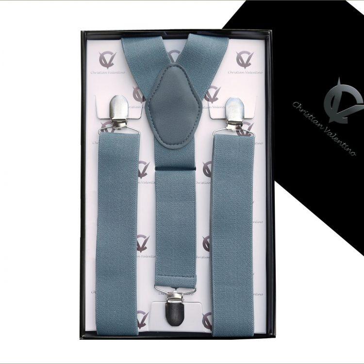 Mid Grey Y3.5cm Men's Extra Large Braces Suspenders