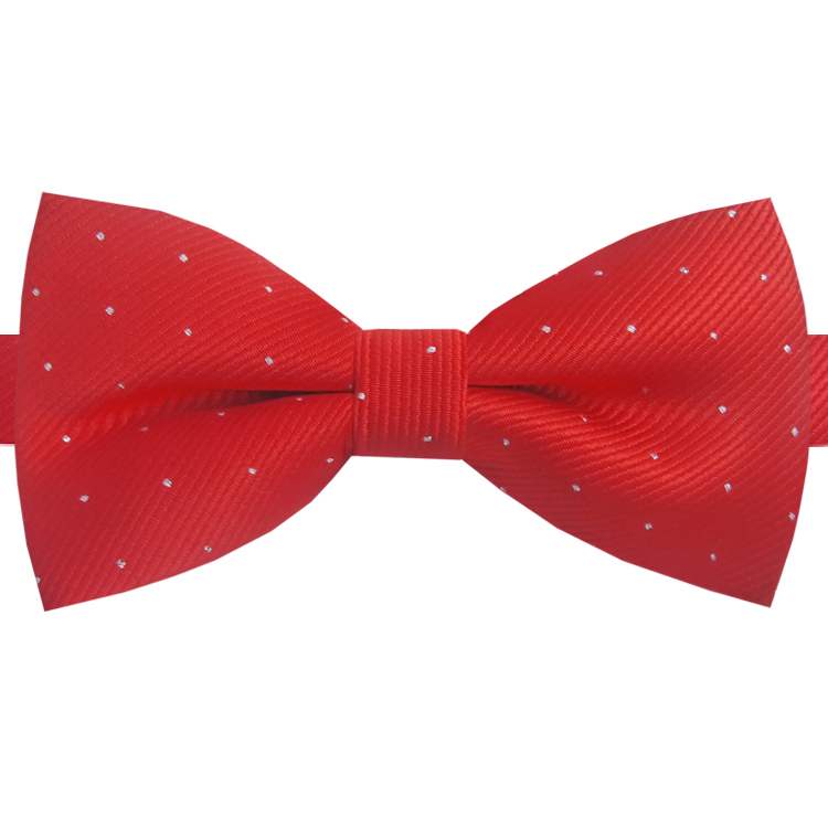 Red with Small Dots Bow Tie