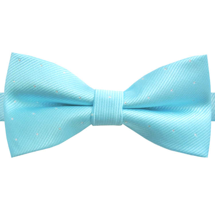 Turquoise with Small Dots Bow Tie