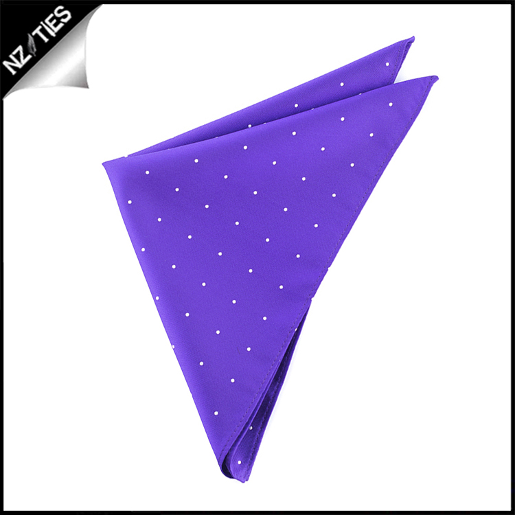 Cadbury Amethyst Pin Dot Pocket Square Handkerchief