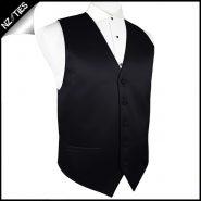 Mens Black Waistcoat Vest 34
