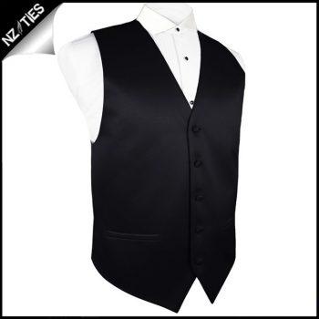 Mens Black Waistcoat Vest