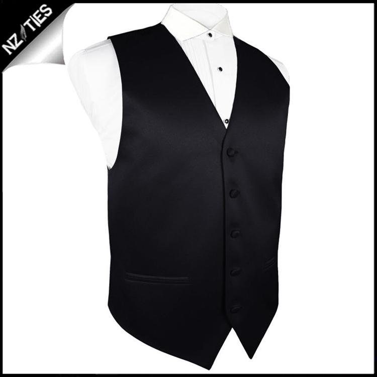 "Mens Black Waistcoat Vest 34"" / 87cm S"