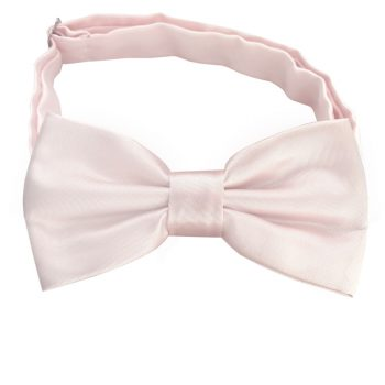 Nude Pink Plain Bow Tie