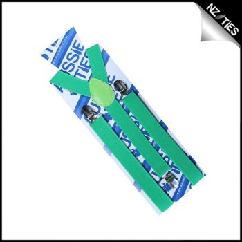Bright Green Boys Braces Suspenders