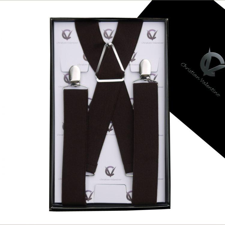 Dark Brown X3.5cm Men's Braces Suspenders