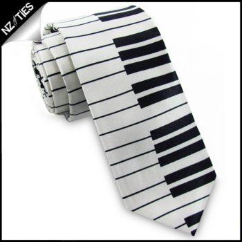 Piano Keys Mens Slim Skinny Tie