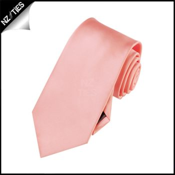 Boys Coral Salmon Plain Necktie
