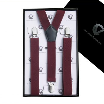 Burgundy Y2.5cm Men's Braces Suspenders