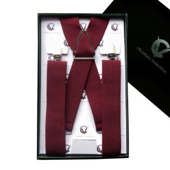 Burgundy X3.5cm Men's Extra Large Braces