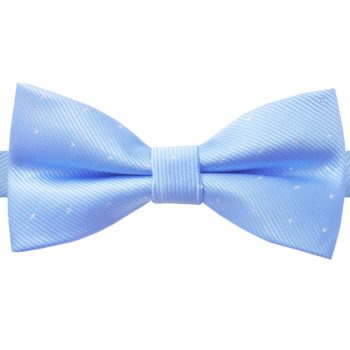 Light Blue With Small Dots Bow Tie