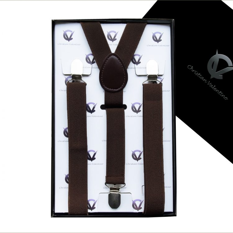 Dark Brown Y2.5cm Men's Extra Large Braces