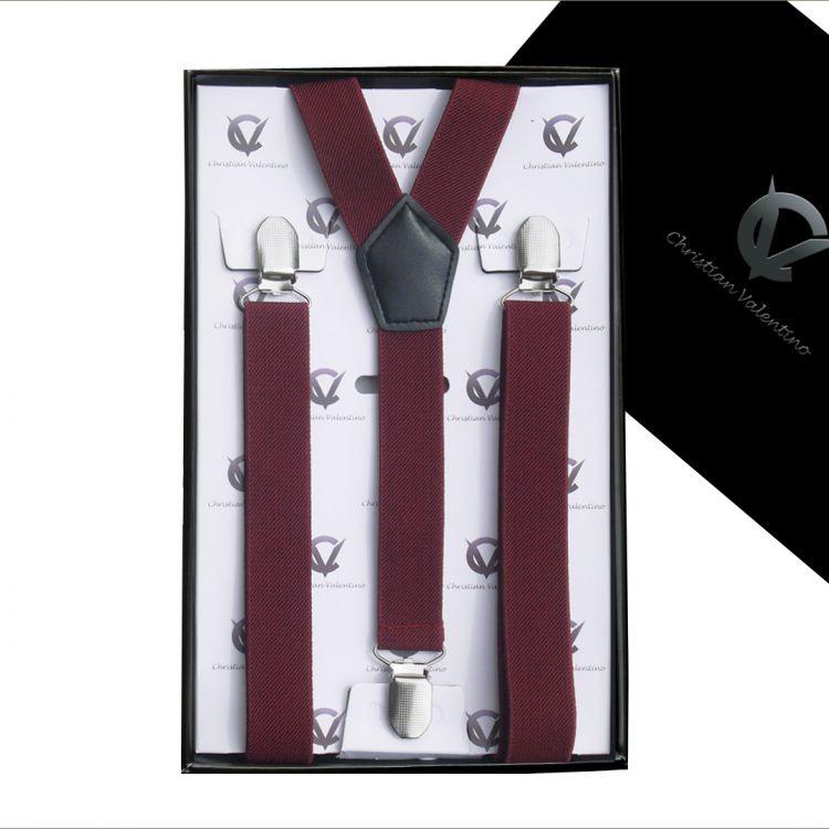 Boy's Burgundy Y2.5cm Braces Suspenders
